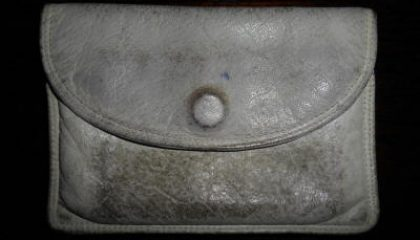 Favourite leather purse before restoration